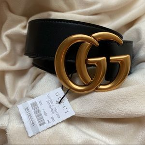 |New Gucci Belt Authėntic Double G Marmot GG Gold